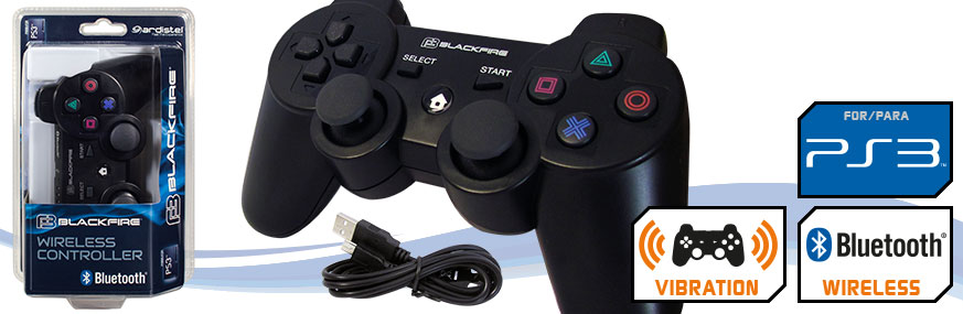 MANDO INALÁMBRICO BLUETOOTH® + CABLE BLACKFIRE® CONTROLLER