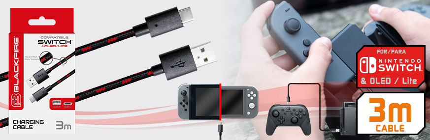 USB TYPE-C CABLE FOR NINTENDO® SWITCH PRO CONTROLLER