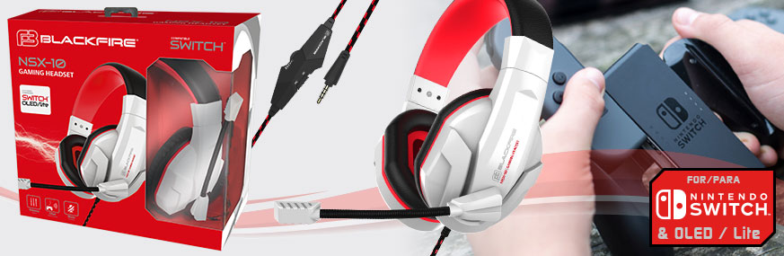Auriculares Gaming BLACKFIRE® Headset NSX-10 para SWITCH™ y Lite