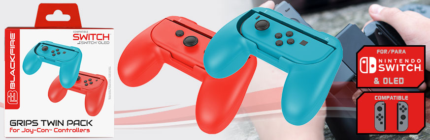 JOY-CON GRIPS TWIN PACK FOR NINTENDO® SWITCH