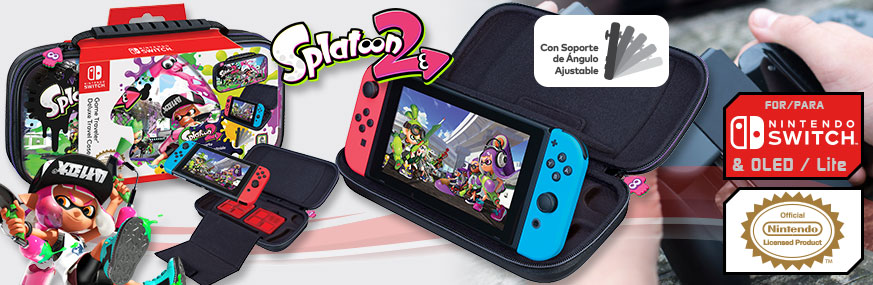 PACK ESTUCHE SPLATOON™2 GAME TRAVELER® NNS51 LIC. NINTENDO®