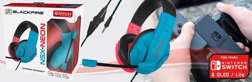 BLACKFIRE® NSX-NEON STEREO GAMING HEADSET SWITCH™ & LITE